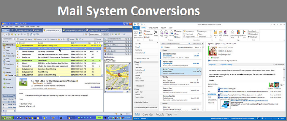 Email System Conversion Management